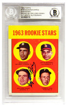 Gaylord Perry Signed San Francisco Giants 1963 Topps Baseball Trading Ca... - $95.00