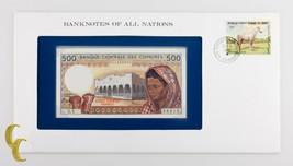 1976 Billetes de Todo Naciones Banque Centrale Des Comores 500 Francos (... - $34.65