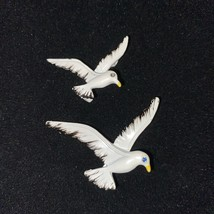 GERRYS Seagull Brooch Stunning Vintage Enamel Brooch Pins Lot of 2 Figural Birds - $24.99