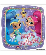 Shimmer and Shine Girls Party BALLOONS Birthday Mylar Decoration Foil 3P... - $12.85