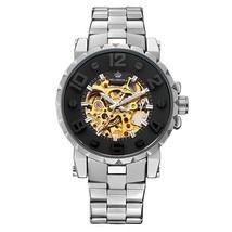 MG. ORKINA Men Wristwatch Golden Skeleton Clock Mechanical Male Wrist Wa... - $45.57