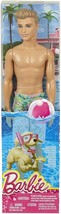 "Beach Barbie Friend KEN 11"" Doll in Tropical Swim Trunks (Mattel, 2018) - $13.54"