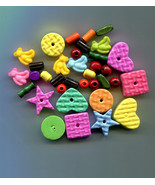 childrens foam beads plastic teddy bear charms childrens jewelry childre... - $2.25