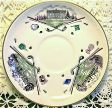 "Royal Worcester Bone China Saucer ""Very Important Person"" Golf Scene - $12.00"