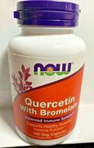 NOW Foods 120 Caps Quercetin Bromelain 12/2022 Blanced Immune - $15.88