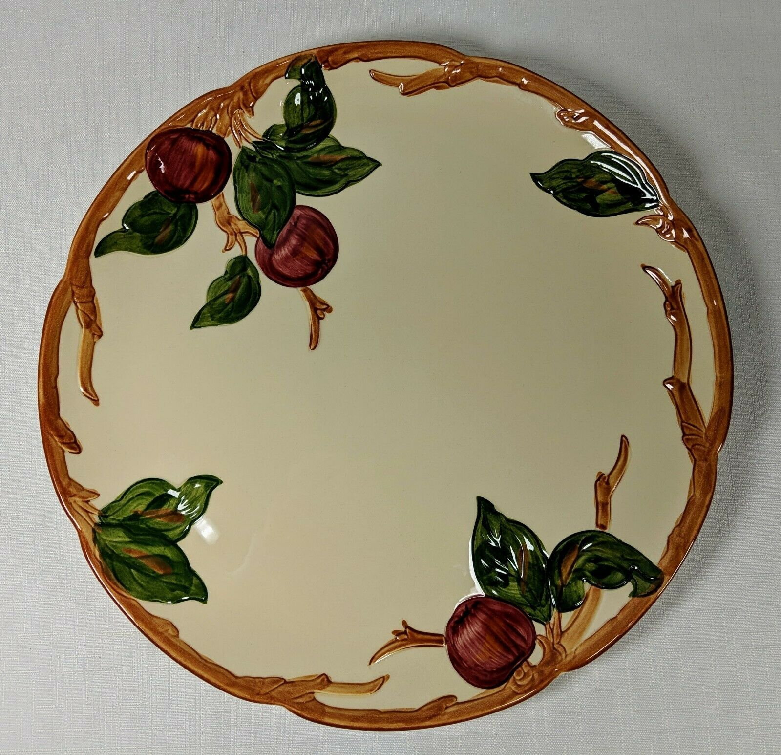 "Franciscan Apple 12"" Round Platter Serving Dish Gladding McBean & Co"