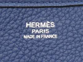 HERMES Evelyne 2 TGM Taurillon Clemence Blue Brighton Shoulder Bag #K Authentic image 10