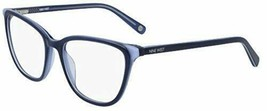 NEW NINE WEST NW 5162 420 Slate Blue Eyeglasses 53mm with Case - $59.35