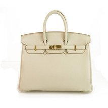 Hermes Birkin 25 Beton Gold Hardware 2019 Brand New with Box Excellent & Rare - $21,275.10