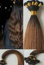 20″ Hand-Tied Weft Hair, 100 grams,100% Human Remy Hair Extensions #T1B/6 - $217.79