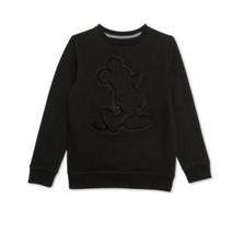 Disney Jungen Nwt Sweatshirt Schwarz Mickey Maus Größe S Geprägt KD584 - $28.64