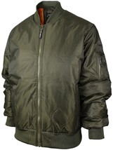 Beverly Hills Polo Club Men's Padded MA-1 Flight Bomber Jacket Big Plus Sizes