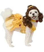 Rubies Disney Beauty and the Beast Belle Dress Pet Dog Halloween Costume... - $23.81