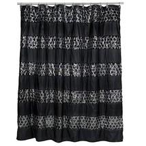 "Popular Bath Shower Curtain, Sinatra Collection, 70"" x 72"", Black - $30.12"