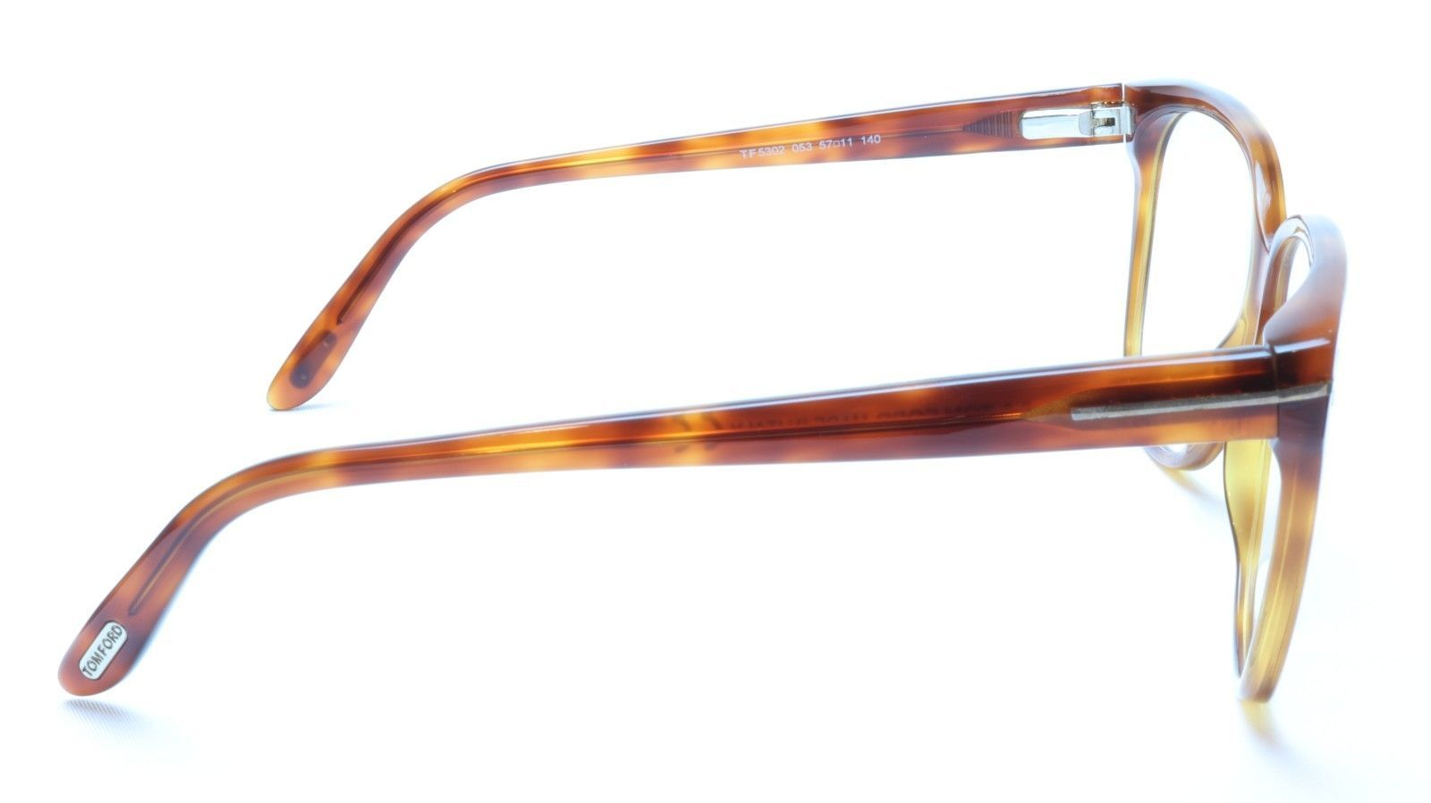 Tom Ford TF5302 053 Eyeglasses Frame Brown Tortoise Acetate Italy Made 57-11-140