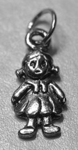NICE daughter Girls rag doll Sterling Silver .925 great for charm bracelet  Jewe - $9.87