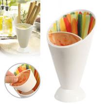12x Tremper cône frites dip Fry SAUCE SNACK Support Nourriture fête BOL ... - $31.95