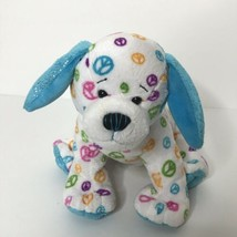 "Ganz Webkinz Peace Puppy Beanie Plush Stuffed Animal 7"" Tall  - $14.84"
