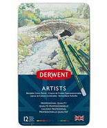 Derwent Artists Colored Pencils, 4mm Core, Metal Tin, 12 Count (32092) - $12.73