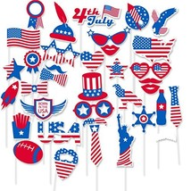 4th of July Photo Booth Props for American Independence Day President Da... - £15.15 GBP