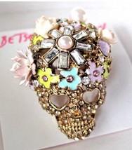 Betsey  Johnson Floral skull ring!! - $51.43