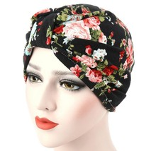 Women Muslim Flowers Hat Chemo Cap Hair Loss Head Scarf Wrap Hijib Cap f... - $6.60