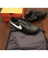 Mens NIKE Tiempo Legend VI FG ACC Black Gold White Soccer Cleat 819177-010 - $135.00