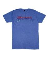 Santana Ombre Logo Blue T-Shirt Men's Officially Licensed Band Tee - $21.00