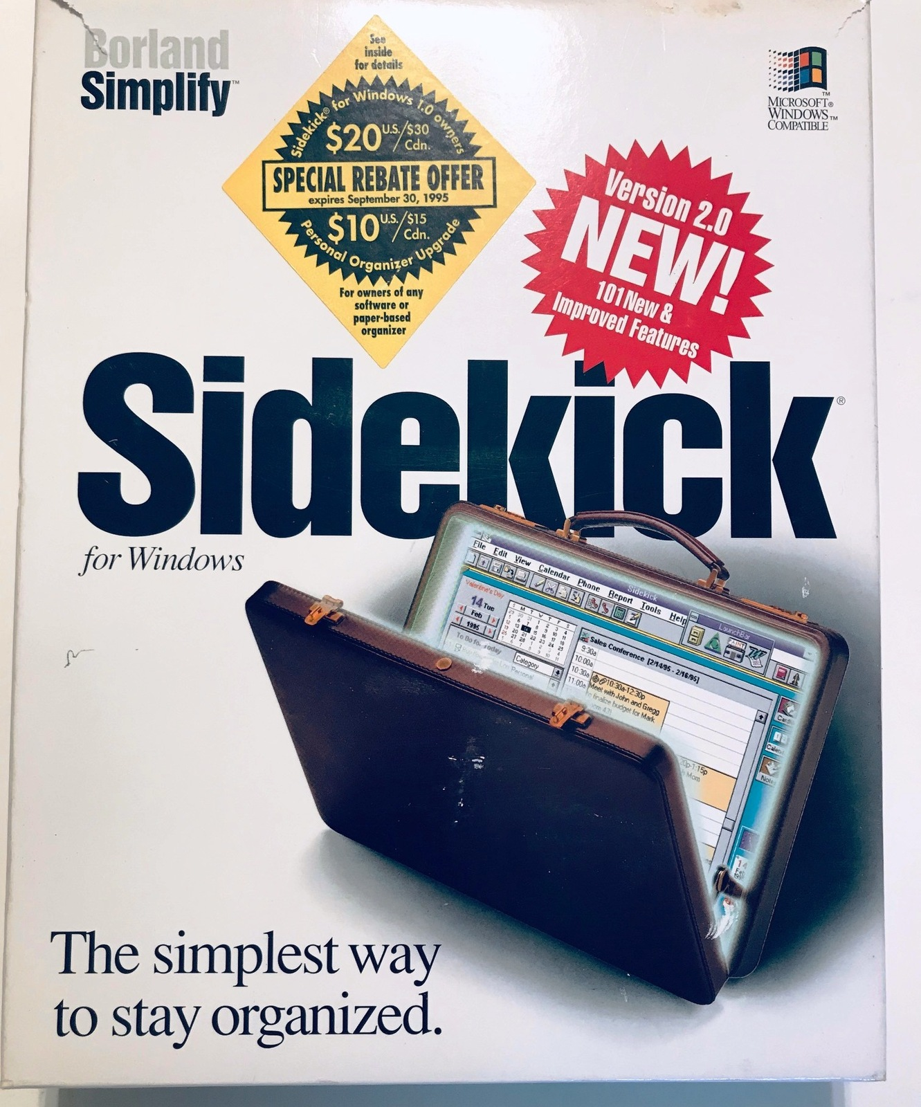 Primary image for Sidekick 2.0 for Windows PC - Software Disk & Manuals in Original Box