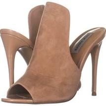 Steve Madden Sinful Mule Heeled Sandals 069, Nude, 7.5 US - $29.75