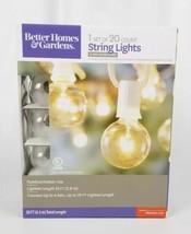 Clear Glass Globe White String Lights 20 Count. 20Ft. Better Homes Garde... - €26,39 EUR