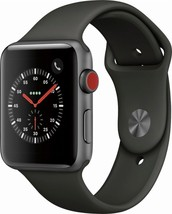 Apple Watch Series 3 42mm Space Gray Aluminium Case with Black Sport Ban... - $345.00