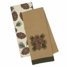 Pine Cones Dish Towels Set of 2 Kitchen Tea Pinecone DII  - $19.79