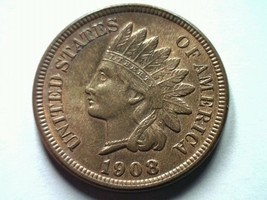 1908 Indian Cent Penny Choice Uncirculated+ / Gem Ch. UNC.+/ Gem Red / Brown - $125.00