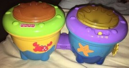 Fisher-Price Ocean Wonders Deep Blue Sea Crawl Along Drum Roll, Bongo Drums - $12.00