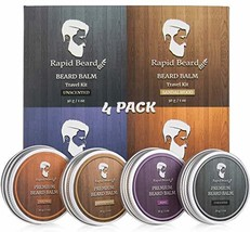 Beard Balm Conditioner 4 Pack - Natural Variety Leave-in Conditioner Wax Butter