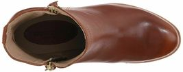 "NEW 1883 by Wolverine Womens Ella Brown Tan Leather 5"" Side Zip Ankle Bootie NIB image 5"