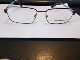 Authentic Emporio Armani EA1015 3053 Brown Silver Eyeglasses Frame 55/17... - $58.41