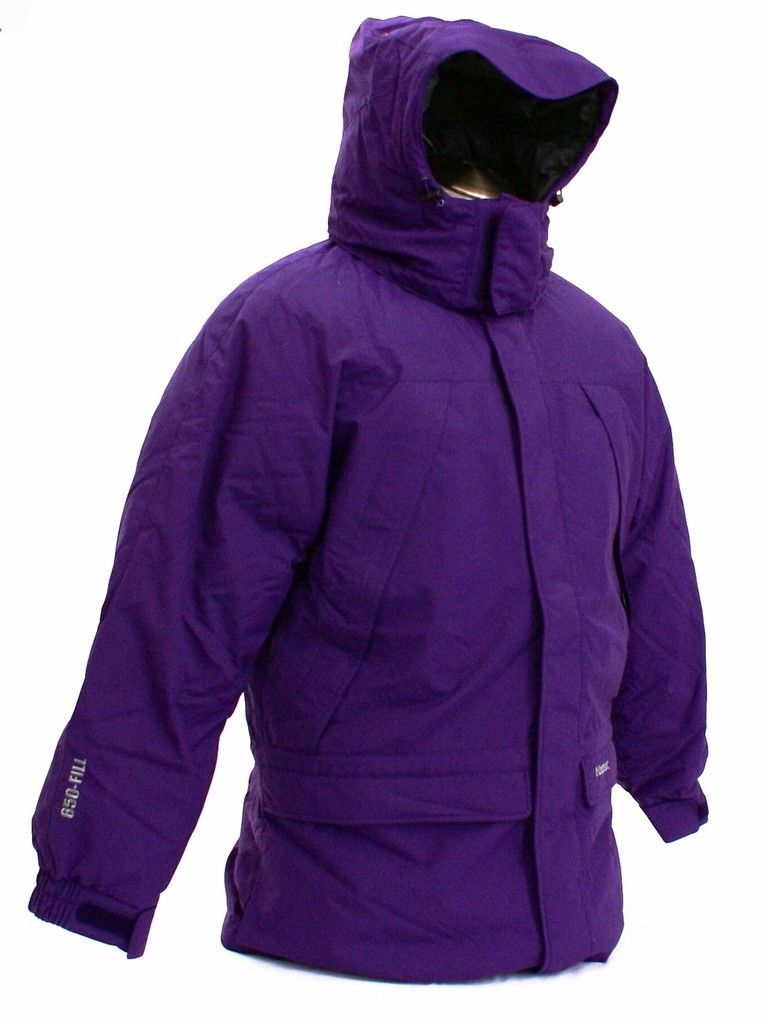 Classic Down Hooded Parka Young Men/'s Size NWT Marmot Purple Yukon Jr