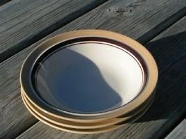 Carousel Beige by Sango 805 Lot 3 Rimmed Soup Bowls - $38.32