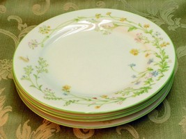 Reverie by Noritake 7191 LOT 4 SALAD PLATES gre... - $42.06