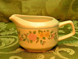 Sketchbook by Lenox China Temperware CREAMER PITCHER 10 oz pastel flower... - $29.91