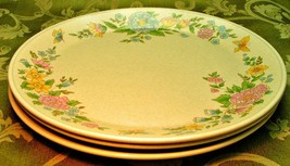 Sketchbook by Lenox China Temperware LOT 3 DINNER PLATES butterflies flo... - $88.81