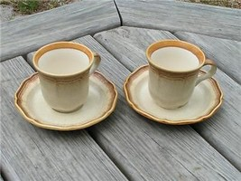 Whole Wheat By Mikasa Ex100 E8000 Lot 2 Cups + 2 Saucer - $21.49