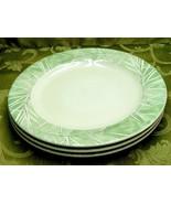 Aspen by Pfaltzgraff LOT 3 DINNER PLATES green white leaf Arborwood - $33.65
