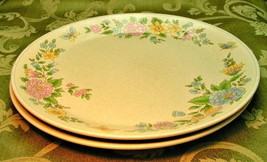 Sketchbook by Lenox China Temperware LOT 2 DINNER PLATES butterflies flo... - $46.74