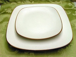 Collector Square by Home Trends LOT 2 DINNER  + 1 SALAD DESSERT PLATE of... - $42.06