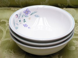 April By Pfaltzgraff Lot 3 Coupe Soup Cereal Bowls - $41.13