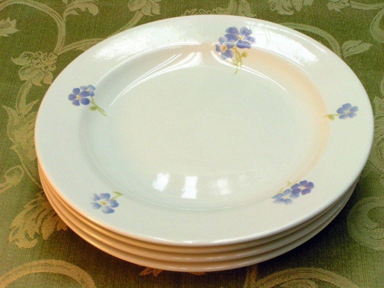 Forget Me Not Martha Stewart LOT 4 SALAD DESSERT PLATES - $43.00 & Martha Stewart Plates: 2 listings