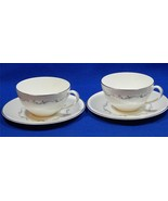 Coronet by Royal Doulton China H4947 LOT of 2 CUPS + 2 SAUCERS scrolls S24 - $53.28